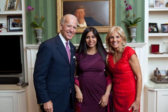 Vice President Biden, Pooja Sankar, Dr. Biden